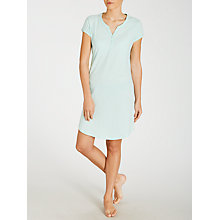 Buy John Lewis Carrie Spot Short Sleeve Nightdress, Aqua Online at johnlewis.com