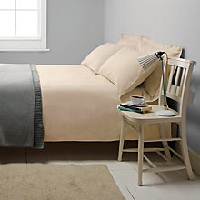 Buy John Lewis Croft Collection Herringbone Stripe Bedding, Honey Online at johnlewis.com