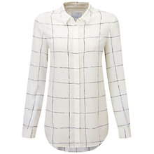 Buy Pure Collection Campbell Silk Blouse, Check Print Online at johnlewis.com