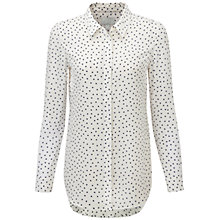 Buy Pure Collection Eccleston Silk Blouse, White Online at johnlewis.com