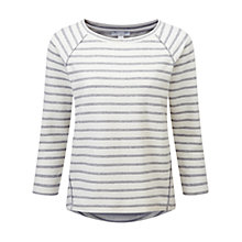 Buy Pure Collection Jersey Sweatshirt, Ecru / Grey Stripe Online at johnlewis.com
