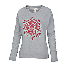 Buy Fat Face Aisling Flocking Crew Jumper, Grey/Red Online at johnlewis.com