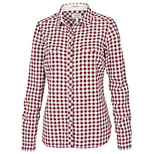 Buy Fat Face Classic Fit Gingham Shirt, Garnet Online at johnlewis.com