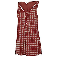 Buy Fat Face Henley Jaipur Geo Camisole, Firebrick Online at johnlewis.com