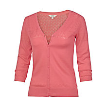 Buy Fat Face Annie Cardigan, Flamingo Online at johnlewis.com