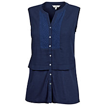 Buy Fat Face Seaton Woven Mix Button Through Blouse Online at johnlewis.com