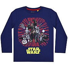 Buy Star Wars New Characters Long Sleeve T-Shirt, Blue Online at johnlewis.com
