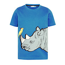 Buy John Lewis Boys' Rhino Short Sleeve T-Shirt, Blue Online at johnlewis.com