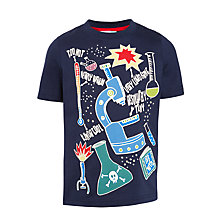 Buy John Lewis Boys' Chemistry Glow In The Dark T-Shirt, Navy Online at johnlewis.com