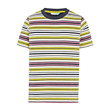 Buy John Lewis Boys' Multi Stripe T-Shirt, Green Online at johnlewis.com