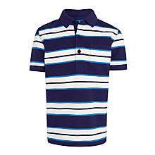 Buy John Lewis Boys' Stripe Nautical Polo Shirt, Navy/White Online at johnlewis.com