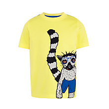 Buy John Lewis Boys' Lemur T-Shirt, Yellow Online at johnlewis.com