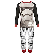 Buy Star Wars Stormtrooper Pyjamas, Black Online at johnlewis.com