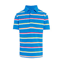 Buy John Lewis Boys' Multi Stripe Polo Shirt, Blue Online at johnlewis.com