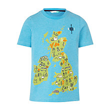 Buy John Lewis Boys' UK Map Print T-Shirt, Blue Online at johnlewis.com