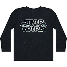 Buy Star Wars Logo Print Long Sleeve T-Shirt, Black Online at johnlewis.com
