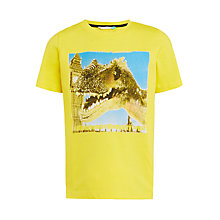 Buy John Lewis Boys' Big Ben Dinosaur Print T-Shirt, Yellow Online at johnlewis.com