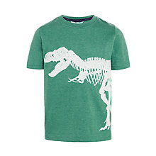 Buy John Lewis Boys' T-Rex Skeleton Glow In The Dark Print T-Shirt, Green Online at johnlewis.com