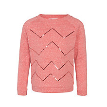 Buy John Lewis Girls' Zig Zag Sequin Sweater Online at johnlewis.com