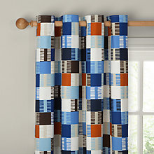 Buy Scion Navajo Lined Eyelet Curtains, Blueprint Online at johnlewis.com