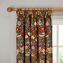 Buy Sanderson Strawberry Thief Lined Pencil Pleat Curtains Online at johnlewis.com