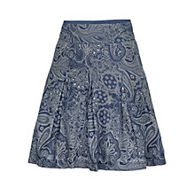 Buy Fat Face Pleat Bandana Cotton Skirt, Navy Online at johnlewis.com