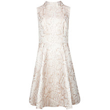 Buy Ted Baker Azraa Snake Jacquard High Neck Dress, Beige Online at johnlewis.com