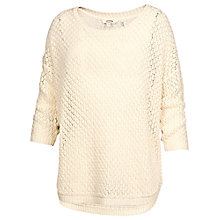 Buy Fat Face Tiveton Pointelle Jumper, Ivory Online at johnlewis.com