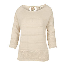 Buy Fat Face Chiddingfold Keyhole Jumper, Ivory Online at johnlewis.com