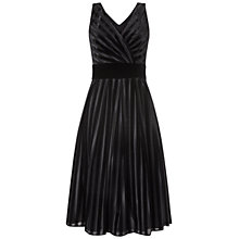 Buy Ariella Pixie Velvet Stripe Dress, Black Online at johnlewis.com