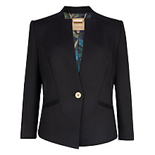 Buy Ted Baker Chaya Neoprene Suit Jacket, Black Online at johnlewis.com