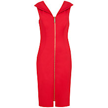 Buy Ted Baker Ravana Zip Front Dress, Red Online at johnlewis.com