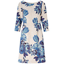 Buy Adrianna Papell A-Line Floral Dress, Blue/Multi Online at johnlewis.com