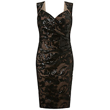Buy Ariella Elsa Lace Shift Dress, Black/Nude Online at johnlewis.com