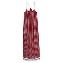 Buy Mango Embossed Flower Gown, Dark Red Online at johnlewis.com