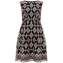 Buy Adrianna Papell Geo Shift Dress, Black/Pink Online at johnlewis.com