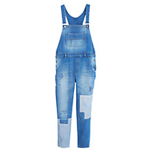Buy Mango Denim Dungarees, Open Blue Online at johnlewis.com