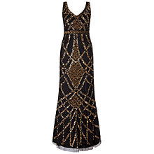 Buy Ariella Nahla Full Length Beaded Evening Dress, Black/Nude Online at johnlewis.com