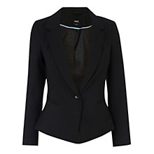 Buy Oasis Bonnie Workwear Jacket, Black Online at johnlewis.com
