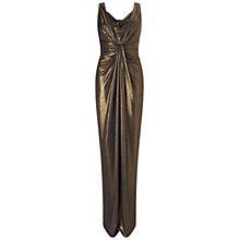 Buy Ariella Davina Foil Maxi Dress, Black/Gold Online at johnlewis.com
