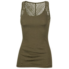 Buy Fat Face Lace Back Vest Top Online at johnlewis.com