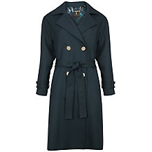 Buy Ted Baker Vasna Double Breasted Trench Coat, Dark Green Online at johnlewis.com