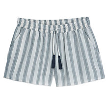 Buy Mango Striped Shorts, Light Beige Online at johnlewis.com