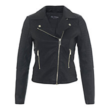 Buy Miss Selfridge Ruby Faux Leather Biker Jacket, Black Online at johnlewis.com