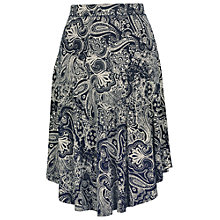 Buy Fat Face Westbourne Bandana Skirt, Navy Online at johnlewis.com