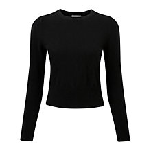 Buy Pure Collection Abbey Cashmere Jumper, Black Online at johnlewis.com