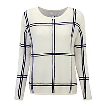 Buy Pure Collection Check Gassato Cashmere Jumper Online at johnlewis.com