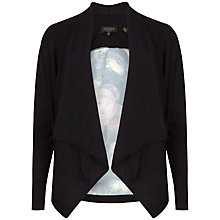 Buy Ted Baker Vonya Shadow Floral Wrap Cardigan, Black Online at johnlewis.com