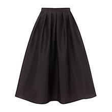 Buy Adrianna Papell Taffeta Mid-Length Skirt, Black Online at johnlewis.com