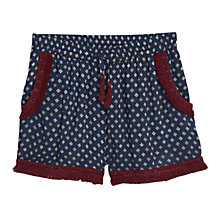 Buy Mango Floral Print Shorts, Medium Blue Online at johnlewis.com